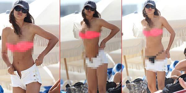Berbikini Pink, Kekasih Ronaldo Seksi Mempesona photo