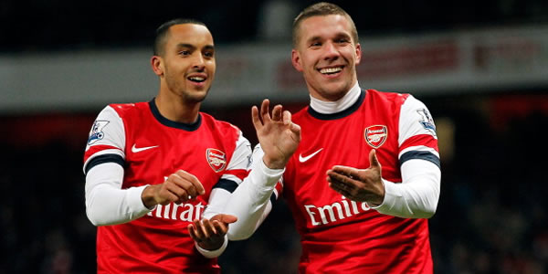 Podolski Cemerlang, Arsenal Hantam West Ham 5-1 photo