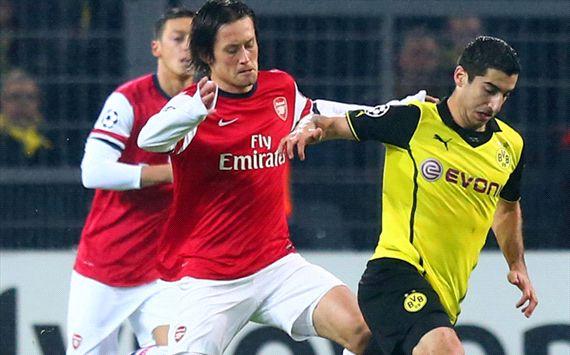 Borussia Dortmund vs Arsenal skor akhir 0-1