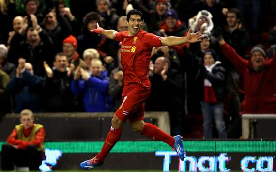 4 gol plus satu assist Luis Suarez antar Liverpool gilas Norwich 5-1