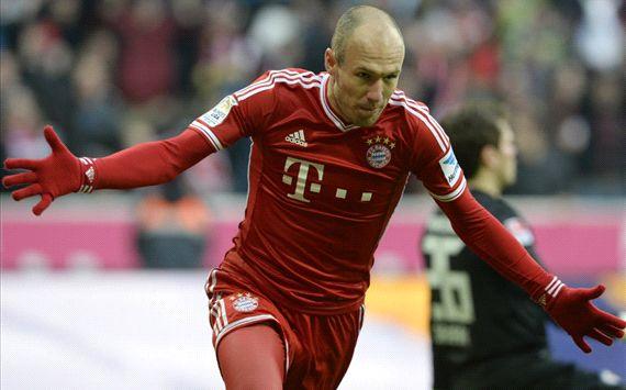 Sepasang gol Robben Mantapkan Posisi Bayern MunichSepasang gol Robben Mantapkan Posisi Bayern Munich